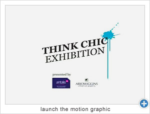 Think Chic Exhibition Motion Graphic
